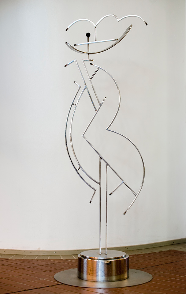 10. Kaveri, 53x28x188cm, stainless steel, strip 10mm, 1984