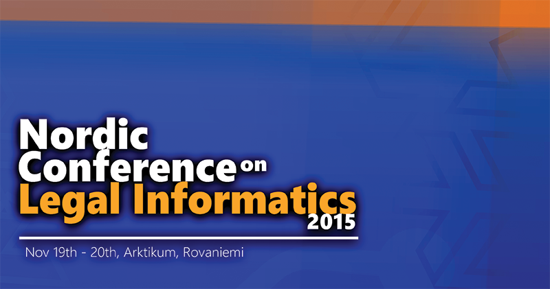 Nordic Conference on Legal Informatics 2015