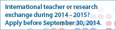 International teacher or research exchange during 2014 - 2015?