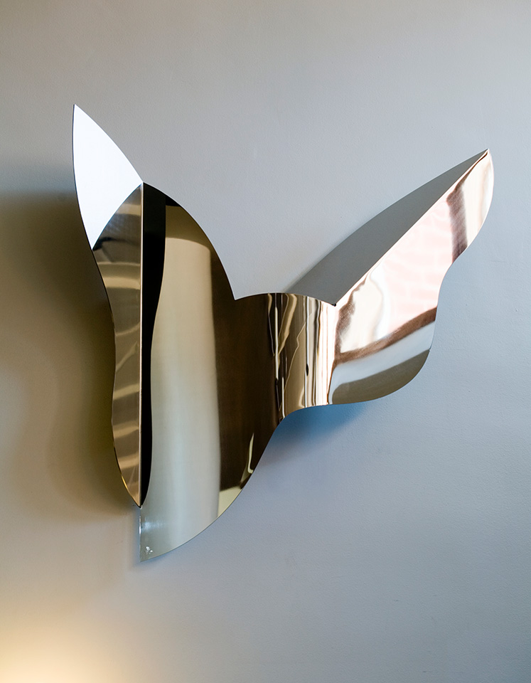 12. Ritenuto II, 135x130x17cm, stainless steel, sheet 3mm, 1999