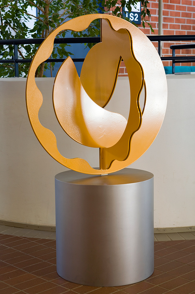 20. Iso-Keltainen-Mitalli, height 158cm, diameter 90cm, powder coated steel, 1988