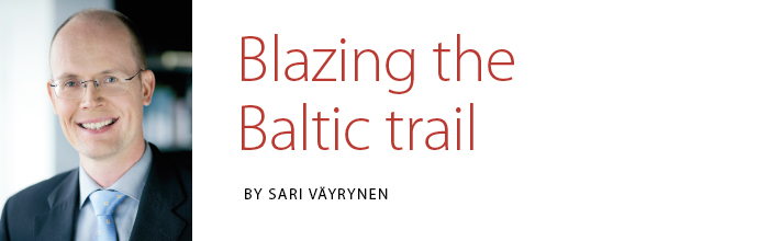Aku Sorainen - Blazing the Baltic trail. Article by Sari Väyrynen in Latitude 2014