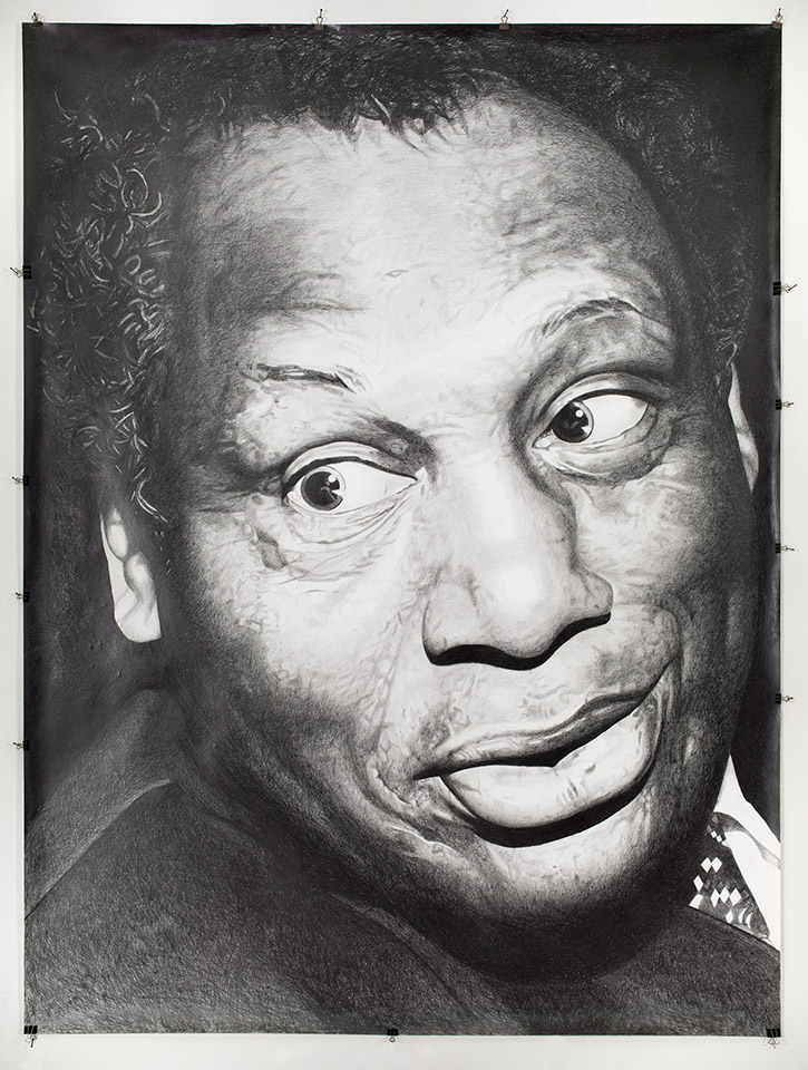 Paul Robeson, singer and activist, 2014. Pencil on paper. 200 x 150 cm. Photograph: Arto Liiti