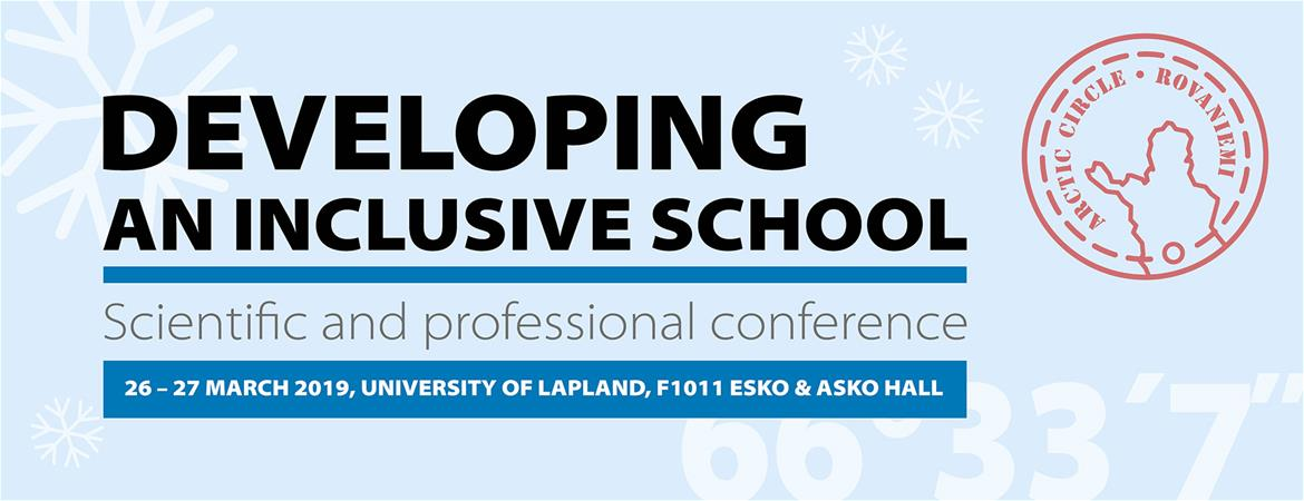 Conference: Developing an Inclusive School 26.-27.3.